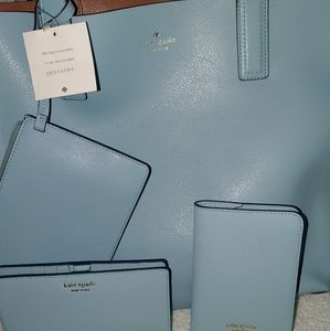 Kate Spade reversible purse, wallet & passport